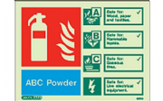 6370D/R - ABC POWDER EXTINGUISHER IDENTIFICATION SIGN